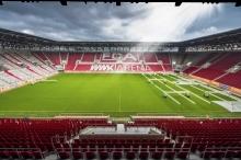 FC Augsburg Stadion von oberstem Tribünenplatz